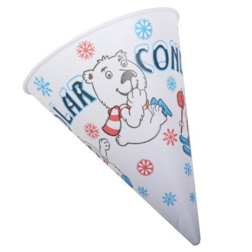 Great Northern Popcorn Company Polar Cones Premium Snow Cone Cups, Case of 200