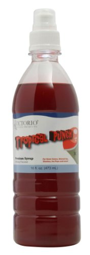 Victorio 16-Ounce Shaved Ice/Snow Cone Syrup, Tropical Punch